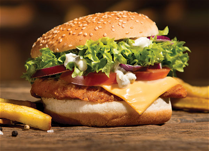 Foto Spicy crispy chickenburger