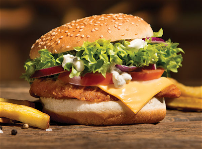 Foto Spicy crispy chickenburger combi menu